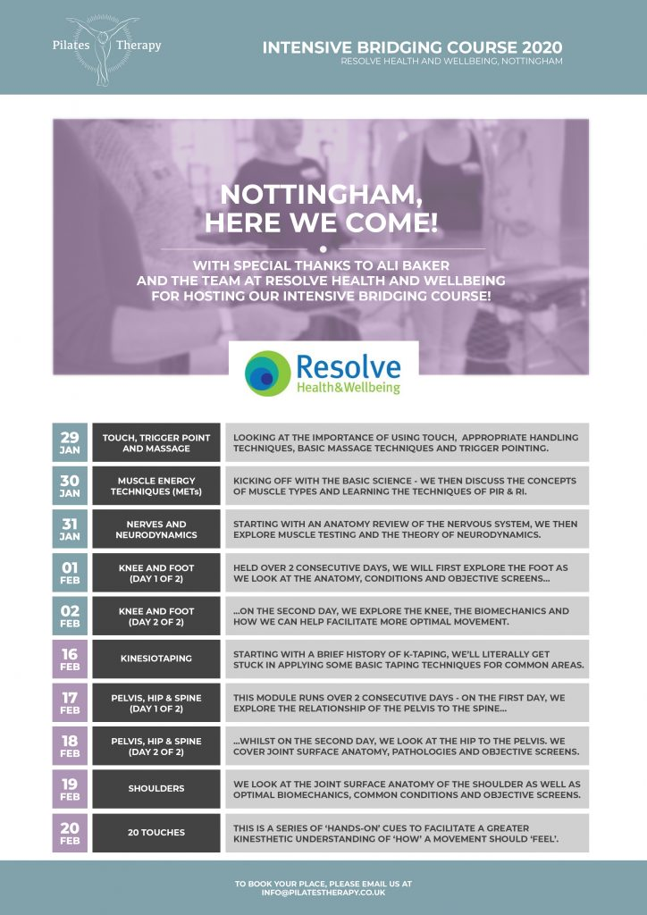 pilates-therapy-course-timetable-nottingham
